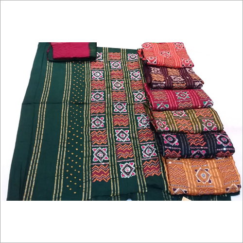 Cotton Silk Bandhani Dress Material