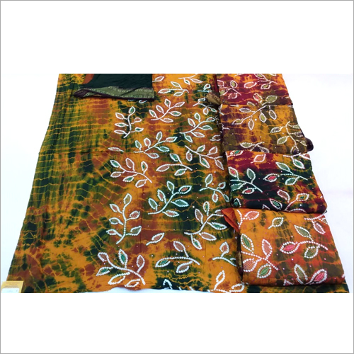 Printed Bandhani Dress Material