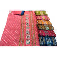 Unstitched Bandhani Dress Material