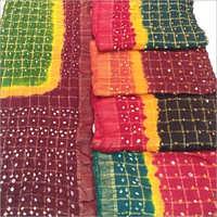 Designer Cotton Bandhani Saree