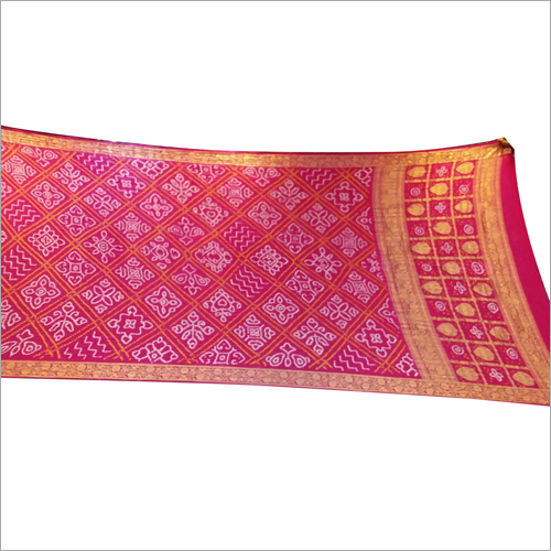Gaji Silk Handwork Saree