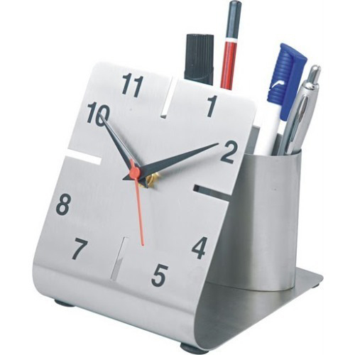 Wall Clock Pen Stand