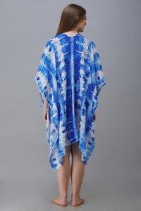 digital printed crepe poncho