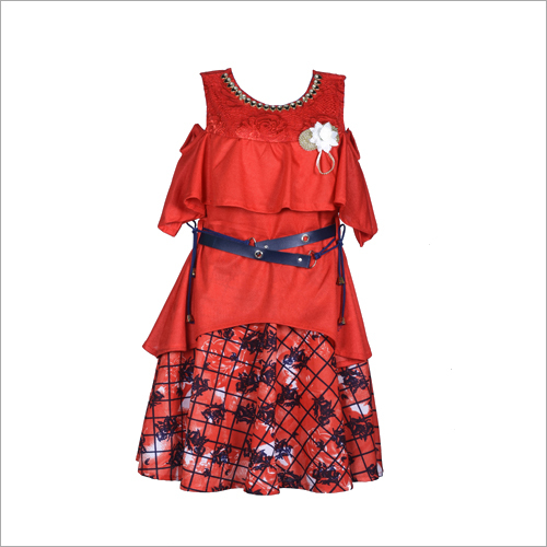 Girls Cold Shoulder Frock