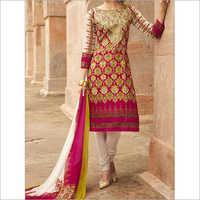 Ladies Churidar Embroidery Suit