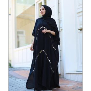 Black Designer Abaya Dress