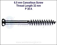 6.5 mm Cancellous Screw Thread Length 32 mm