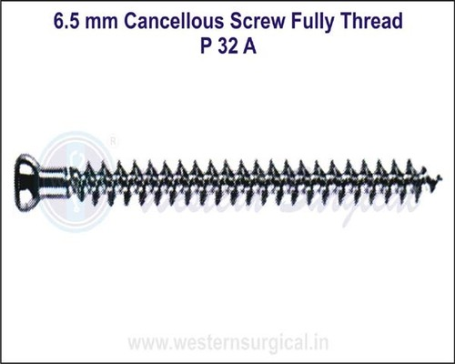 6.5 mm Cancellous Screw Fully Thread