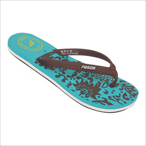 4x7 Inch Girls Brown Printed Slippers