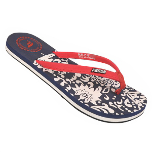 5x8 Inch Navy Blue And Red Printed Slippers