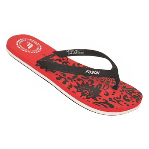 4x7 Inch Red And Black Printed Slippers