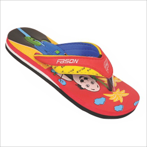 8x10 Inch KIds Red Cartoon Printed Slippers