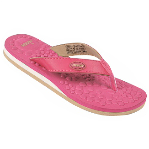 4x7 Inch Ladies Pink Slippers