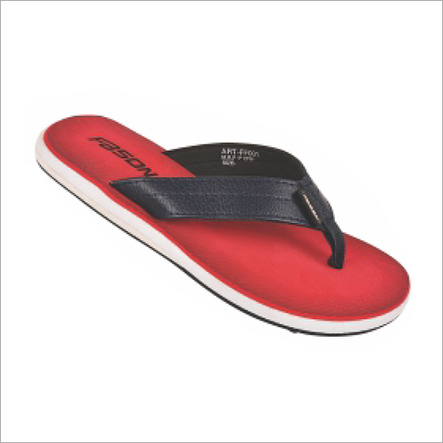 6x9 Inch Mens Red Soft Slippers