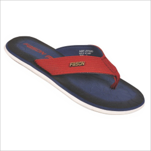 6x9 Inch Mens Blue And Red Fancy Slippers