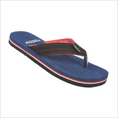 7x10 Inch Mens Navy And Red Fancy Slippers