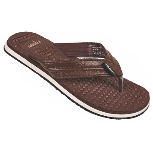 6x9 Inch Mens Brown Regular Slippers