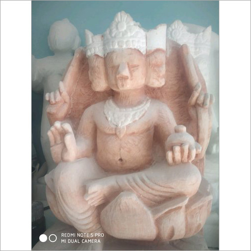 Marble Lord Brahma Statue