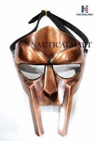 B07HCGVFGG NauticalMart MF Doom Rapper Madvillain Gladiator Mask (Copper)