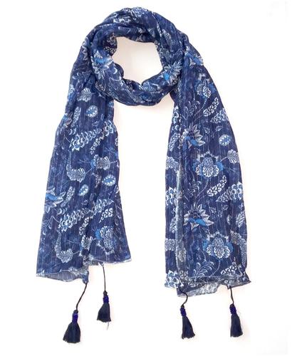 wool printed scarf