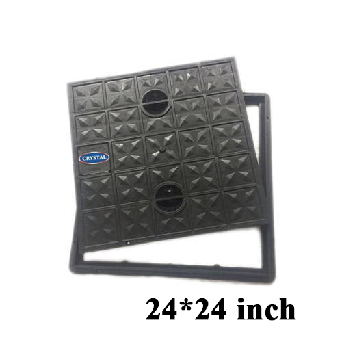 Crystal Black Plastic Manhole Cover and Frame