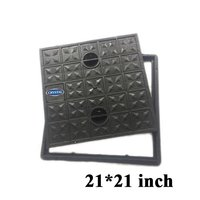 Crystal Black Manhole Cover and Frame