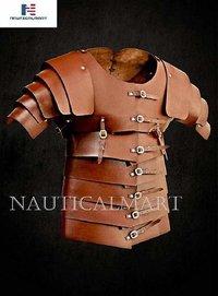 B07DML2P5R NauticalMart Medieval Roman Leather Lorica Segmentata Armor