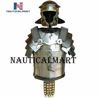B07S8PRS1K Roman legionaries armor Lorica Segmentata with mail shoulder guards