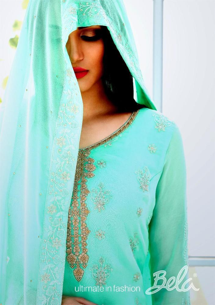 Georgette Embroidered Dress Material