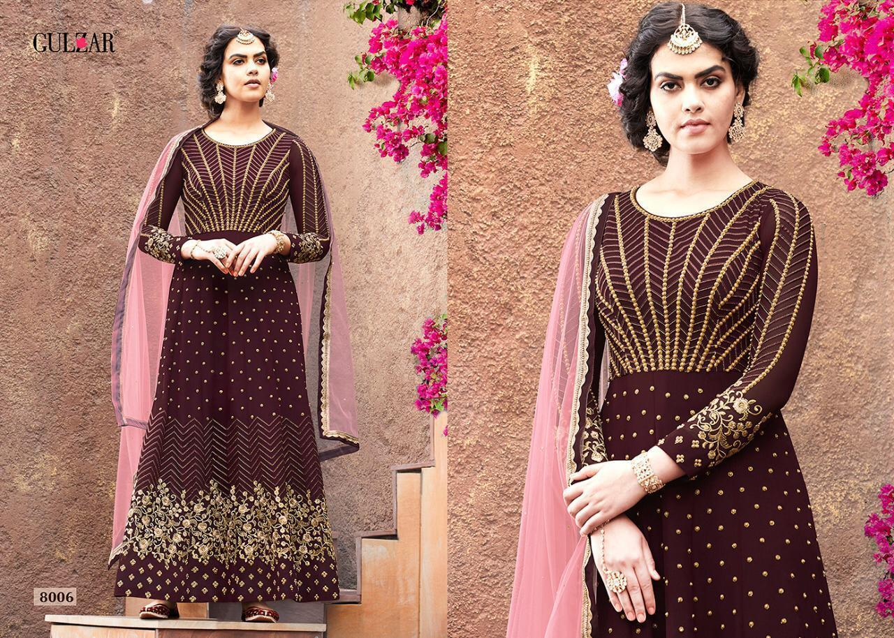 Faux Geogette Embroidered Dress Material