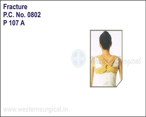 Meek Clavicle Brace With Fasteners-Back View