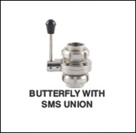 Butterfly Valve with Sms Union