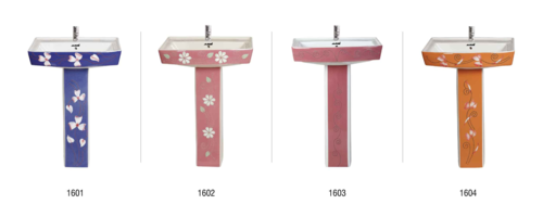 Printed Wash Basin with Pedestal