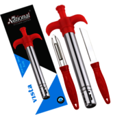 Vista Gas lighter With SS Knife and Peeler