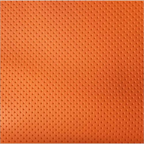 Orange Artificial Leather Fabric