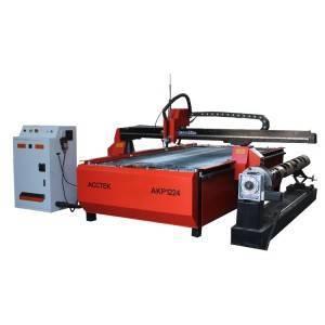 CNC METAL STEEL PLATE CUTTER CNC PLASMA CUTTING MACHINE AKP1224