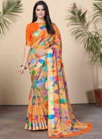 Rainbow Cotton saree
