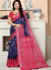 Silver Gharsola Cotton saree