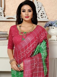 Silver Gharsola Cotton saree