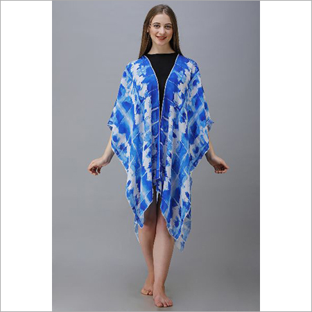 Digital Printed Crepe Poncho