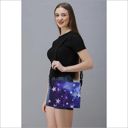 Digital Printed Cotton Canvas Sling Bag