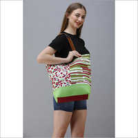 Cotton Canvas Designer Shopper Bag