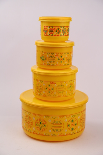 ALFA 4 PCS PLASTIC CONTAINERS SET