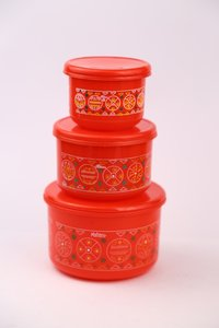 ALFA 3 PCS PLASTIC CONTAINER SET