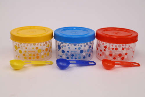 Micro 22 (3 Pcs Set) Plastic Polypropylene Container