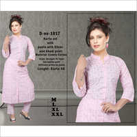 Camric Cotton Kurti With Pant