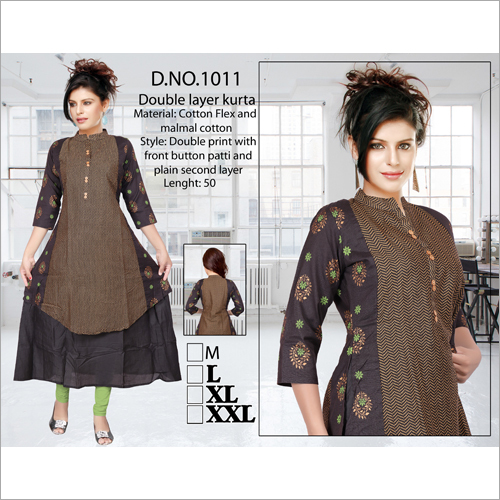 Ladies Double Layer Kurti