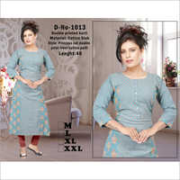Ladies Double Printed Kurti