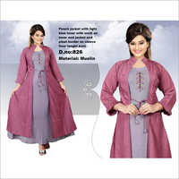 Muslin Jacket With Inner Kurti