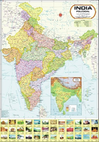 India Map with new Jammu & Kashmir Boundary
